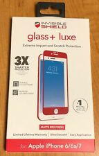 """NEW ZAGG Glass + Luxe Screen Protector for iPhone 7 / iPhone 8 (4.7"""") Matte Red"""