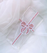 Bling Pink Bow Sparkle Top A Opal Crystal Phone Case Cover for Various iphone