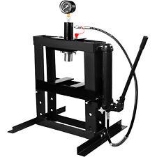 10 Tonnes Presse Hydraulique d'Atelier à Chassis + Manomètre + Pompe pour Garage