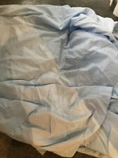 Baby Blue Cotton/polyesterFITTED VALANCE SHEET DOUBLE BED