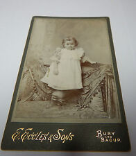 Cabinet Card photo of A Victorian child Toddler E Eccles and sons Bury,& Bacup
