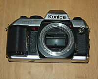 Konica FT-1 Motor  35mm Camera Black Body UNTESTED (For Props or Parts )
