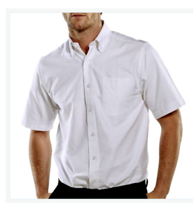 """Perfect Fas Larger Mens short sleeve  white shirts 18 """"18.5 19.19.5 20 21 22 23"""