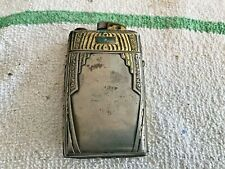 Vintage Evans Gold Tone Trimmed l Lighter  Cigarette Case Combo