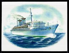 Original Art Work ...tn MICHELANGELO ...Italia.. ocean liner...3/4 view