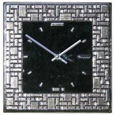 Brand New Art Glass platinum mosaic wall clock PlatinumLabyrinth by Ponyglass