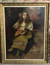 """Peinte / huile sur toile """"La Bohémienne"""" signé Léon Bonnat 1860"""
