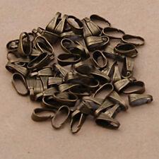 300PCS Pendant Clips & Pendant Clasps Pinch Clip Bail Jewelry Pendant Connectors