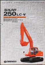 """Daewoo """"Solar 250LC-V"""" Crawler Hydraulic Excavator Brochure Leaflet"""