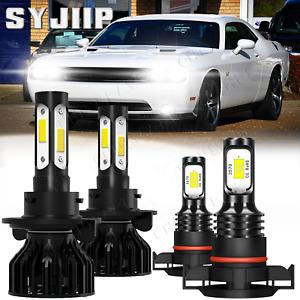 For Dodge Challenger 2009-2014 6000K Kit faros LED blancos bombillas antiniebla