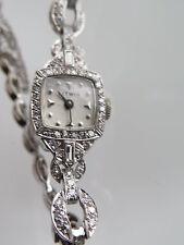 Vintage Litwin 14k White Gold & Diamond Watch & Band