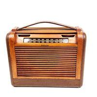 Vintage Philco Portable Radio 46-350 Tube Radio Wooden Roll Top 1946 Not Working