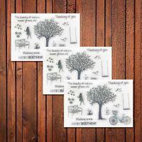 1STK Silikon Stempel clear stamps Blatt Sammelalbum Karte Kunst DIY Dekor
