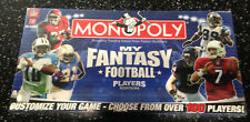 Monopoly MY FANTASY FOOTBALL CUSTOMIZE your own board game NFL New in box