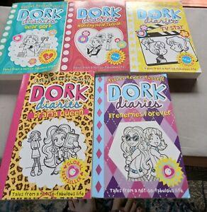 5 X DORK DIARIES BOOK SET RACHEL RENEE RUSSELL BOOKS IN VGC VARIOUS TITLES