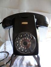 TELEFONO  BAKELITE FACE STANDARD nero a muro FUNZIONANTE ANNI 50 DA COLLEZIONE