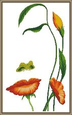 LADY-FLOWER - Counted cross stitch kit (with DMC threads)