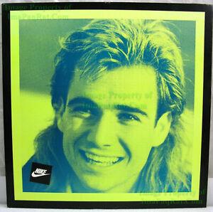 NITF! ☆ 1990 Vintage ☆ Original ☆ NIKE Poster ☆ Andre Agassi SQUARE ☆ Foam Board