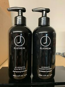 J Beverly Hills Platinum Hydrate Shampoo & Conditioner 12oz DUO! SAME DAY SHIP!