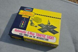 Vintage Rare Aurora Model Motoring HO Scale Automatic 4 way traffic light MINT