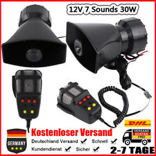 12V 7 Sounds Auto Lautsprecher Elektronische Warnung Sirene Polizei Horn 30W GUT
