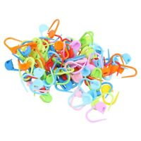 100PCS Knitting Crochet Locking Stitch Needle Clip Markers Holder Fine O8C8