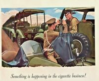 1941 Pall Mall Cigarettes Vintage Print Ad Soldiers