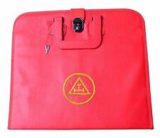 ROYAL ARCH MASONIC APRON CASE WITH HAND EMBROIDERER   (FAUX LEATHER  )