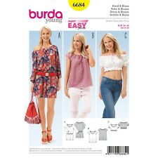 a1e71bf3dfce Burda Young Super Easy SEWING PATTERN 6684 Misses Dress   Blouse ...