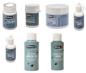 Abbey Gun Care Oil Grease Lube Clean Silicone Blueing Air Rifle Airsoft Shotgun