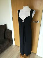 Ladies Dress Size 30 JOANNA HOPE Black Stretch Party Evening Occasion Event