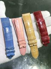 LOT of 4 CHOPARD Genuine Leather Straps 20mm Red,Blue,Biege,Pink Excellent Condi