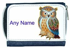 Personalised Girl/Lady Denim Purse With Owl