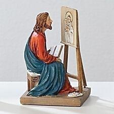 Statue St Luke Evangelist 3.5 inch Painted Resin Figurine Patron Saint Catholic