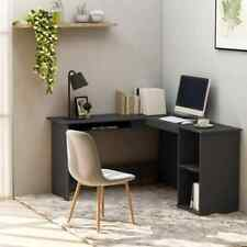 vidaXL L-Shaped Corner Desk Chipboard Grey 120cm Office PC Computer Table