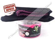 Savon Noir Huile de rose BIO 100% Pur 250g + Gant Kessa Black Soap, Jabón Negro