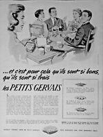 PUBLICITÉ DE PRESSE 1954 LE PETITS SUISSE GERVAIS FRAIS DOUBLE CRÉME NORMANDIE