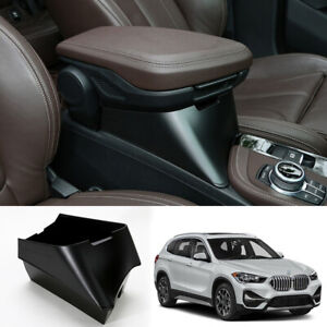 ABS black central console armrest heighten storage box For BMW X1 2016-2020 F48