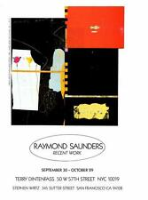 1986-Raymond Saunders:Friday Nights/Marie's- Artist Exhibition Vtg Ad Art Print