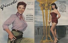 JOAN COLLINS - MARA CORDAY -  Vintage Dutch Magazine PICCOLO 1955 C#42