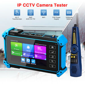 5'' Screen 8MP IPC Camera Tester Monitor AHD CVI TVI CVBS POE PTZ Wire Tracer