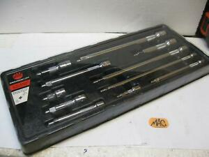 """Mac Tools Multi drive Impact Extension Set 1/4, 3/8 and 1/2"""" drive SMXVEKM11PT"""