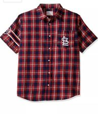 St Louis Cardinals Ladys Button Up Short Sleeve Small
