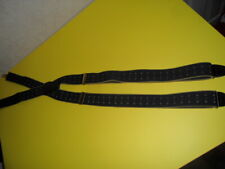 Vtg Pelican Blue Gold Elastic Leather Loop Men's Adjustable Suspenders  USA