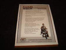 RIGHT TO DIE 1987 Emmy ad with Raquel Welch for Best Actress in wheelchair