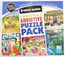 Mumbo Jumbo 5 Great Amazingly Addictive Puzzle Pack ~7 Wonder II,Mahjong, Luxor