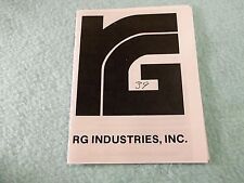 RG MODEL 39 SWINGOUT REVOLVER MANUAL 38 Special or 32, small owners type manual