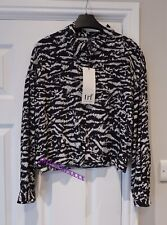 Zara Zebra Print Cropped Shirt XS Extra Small 6 New