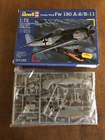 REVELL FOCKE WULF FW 190 A-8/R-11. 1/72 Scale Aircraft Model Kit