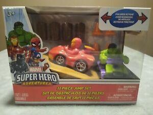Marvel Super Hero Adventures Hulk & Iron Man Vehicle Set - 11-Piece NEW